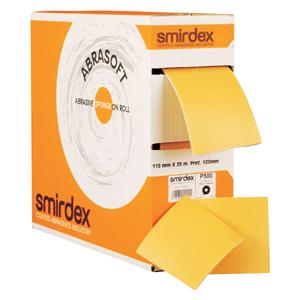 Изображение товара Абразивная губка SMIRDEX Abrasoft на паралоне P600 116мм*125мм