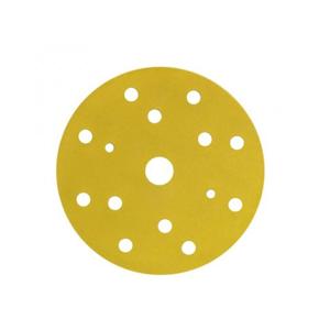 Изображение товара Абразивный круг на липучке 3М P320 15отв. золото 150мм