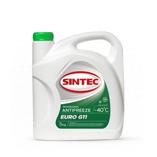 Изображение товара Sintec Антифриз Euro G-11 5кг зелёный