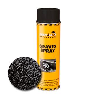 Изображение товара Антигравийное покрытие GRAVEX черный аэрозоль (500 мл)