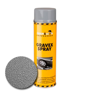 Изображение товара Антигравийное покрытие GRAVEX серый аэрозоль (500 мл)