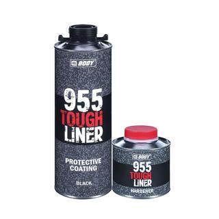 Изображение товара Защитное покрытие BODY 955 (1л) черное TOUGH LINER сверхпрочное.