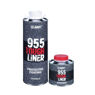 Изображение товара Защитное покрытие BODY 955 (1л) колеруемое TOUGH LINER сверхпрочное