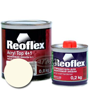 Изображение товара Автоэмаль акриловая Reoflex Белая 040 и Отвердитель RX H-53