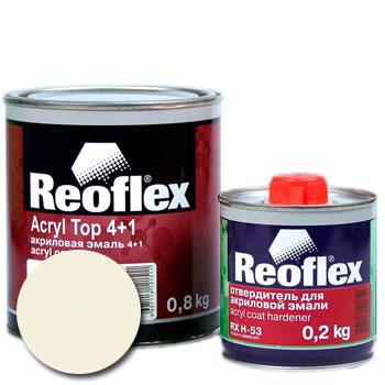 Изображение товара Автоэмаль акриловая Reoflex Белая 201 и Отвердитель RX H-53