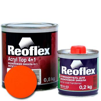 Изображение товара Автоэмаль акриловая Reoflex Оранжевая и Отвердитель RX H-53