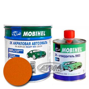 Изображение товара Автоэмаль MOBIHEL 2К 208 Охра золотистая и Отвердитель MOBIHEL 2К 9900 (Снят)