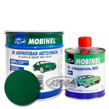 Изображение товара Автоэмаль MOBIHEL 2К 394 Темно-зеленая и Отвердитель MOBIHEL 2К 9900