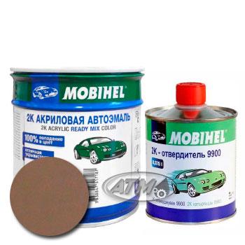 Изображение товара Автоэмаль MOBIHEL 2К 509 Темно-бежевая и Отвердитель MOBIHEL 2К 9900
