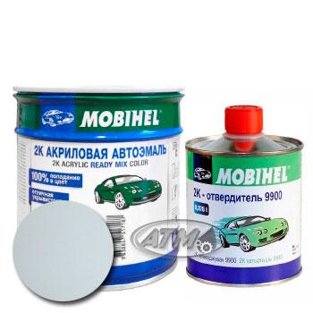 Изображение товара Автоэмаль MOBIHEL 2К Daewoo 10L Casablanca White и Отвердитель MOBIHEL 2К 9900