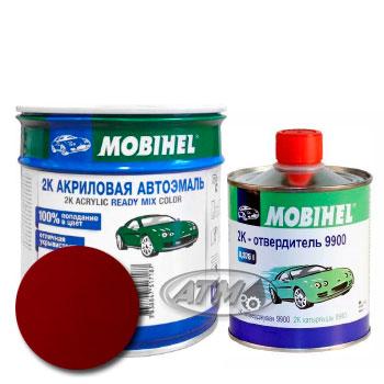 Изображение товара Автоэмаль MOBIHEL 2К Daewoo 71L Mexico Red и Отвердитель MOBIHEL 2К 9900