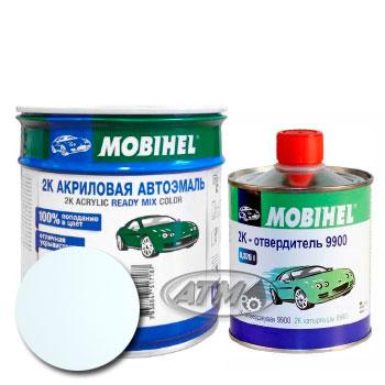 Изображение товара Автоэмаль MOBIHEL 2К Opel 474 Casablancaweiss и Отвердитель MOBIHEL 2К 9900