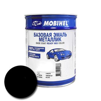 Изображение товара Автоэмаль MOBIHEL 600 чёрная UNI 1л (металлик)