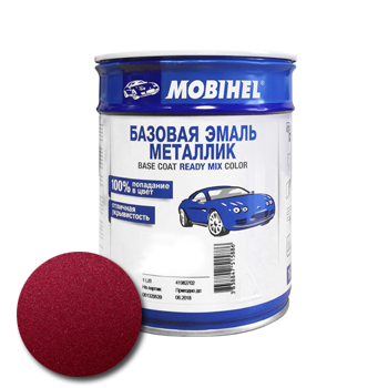 Изображение товара Автоэмаль MOBIHEL Daewoo 74U SPINEL RED 1л (металлик)