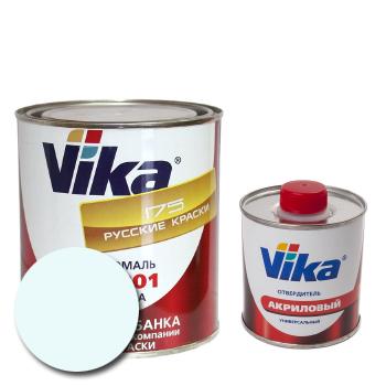 Изображение товара Автоэмаль Vika АК-1301 белая 202 и Отвердитель Vika 1301 (акриловый)
