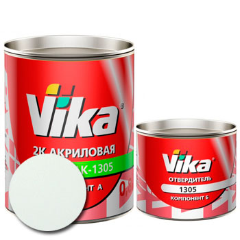Изображение товара Автоэмаль Vika АК-1305 Ледниковый 221 и Отвердитель Vika 1305 (акриловый)