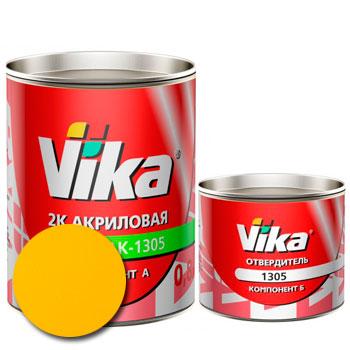 Изображение товара Автоэмаль Vika АК-1305 Желтая 1035 и Отвердитель Vika 1305 (акриловый)