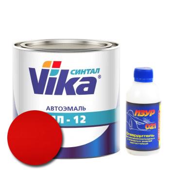 Изображение товара Автоэмаль Vika МЛ-12 красная 42 2кг и Отвердитель Изур-021 0,2кг
