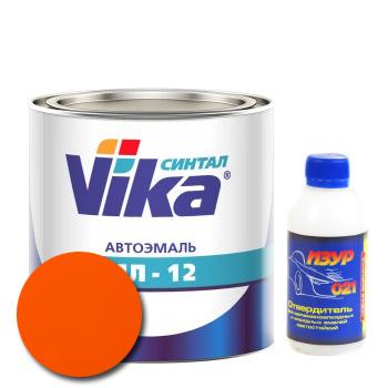 Изображение товара Автоэмаль Vika МЛ-12 оранжевая 121 2кг и Отвердитель Изур-021 0,2кг