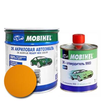 Изображение товара Автоэмаль MOBIHEL 2К 1035 золотисто-жёлтый и Отвердитель MOBIHEL 2К 9900