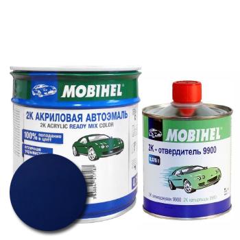 Изображение товара Автоэмаль MOBIHEL 2К 447 синяя ночь и Отвердитель MOBIHEL 2К 9900