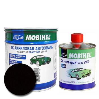 Изображение товара Автоэмаль MOBIHEL 2К 601 чёрная и Отвердитель MOBIHEL 2К 9900