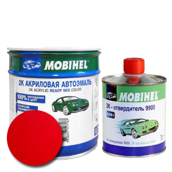 Изображение товара Автоэмаль MOBIHEL 2К MAZDA SQ BLAZE RED и Отвердитель MOBIHEL 2К 9900