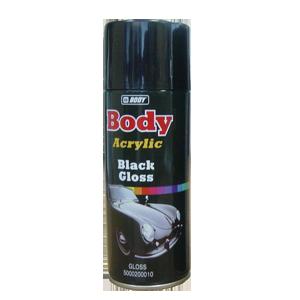 Изображение товара Краска-спрей Body чёрная глянцевая 0,4л