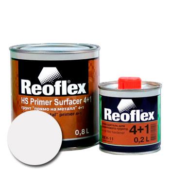 Изображение товара Грунт-наполнитель 2К Reoflex 4:1 Прямо-На-Металл (0,8л и отвердитель) белый