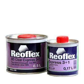 Изображение товара Лак Reoflex Express 3+1 быстрый (0,5л) акриловый (c отвердителем 0,17л)