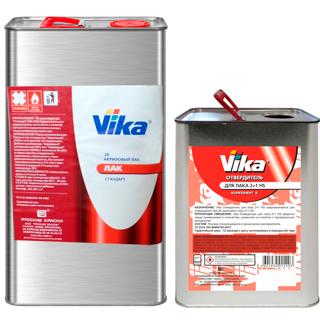 Изображение товара Лак VIKA  AK 2:1 HS 2K 4,7кг и 2,35кг отв
