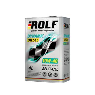 Изображение товара ROLF Dinamic Diesel SAE 10W40, API CL/SL (п/с),4л