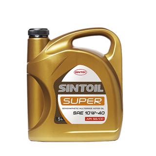 Изображение товара Масло моторное SINTEC/SINTOIL Супер 10w-40 п/с 5л