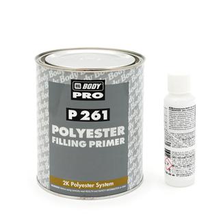 Изображение товара Грунт-наполнитель полиэфирный 2К Body P261 серый КОМПЛЕКТ с отв. 705