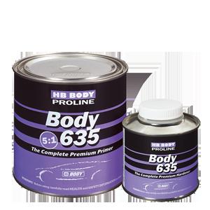 Изображение товара Грунт HB BODY PROLINE 635 5:1 чёрный 0,8л и отв.0,16л (635)