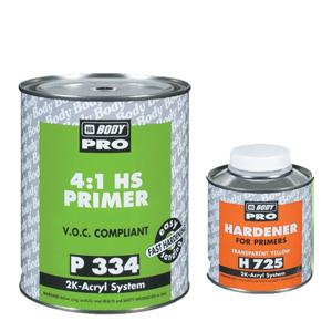 Изображение товара Грунт-наполнитль HB BODY PRO 334 HS 4:1 серый 1л и отв.0,25л (725)
