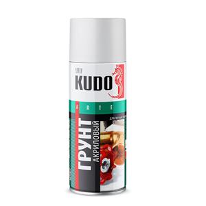 Изображение товара KUDO-2101 Грунт акриловый серый спрей 520мл