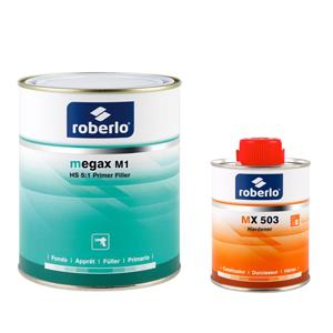 Изображение товара Грунт-наполнитель ROBERLO MEGAX M-1 2К светло-серый 1л