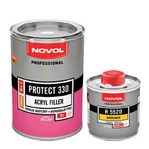 Изображение товара Грунт Novol MS Protect 330 ТRIО 5:1 (мокрый по мокрому), и отв.Н5520 0,2кг серый
