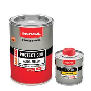 Изображение товара Грунт-наполнитель 2К NOVOL Protect 300 MS 4+1 (1,0л+0,25л) серый КОМПЛЕКТ