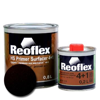 Изображение товара Reoflex Грунт HS Primer Filler 4:1 черный 0,8л, 0,2л