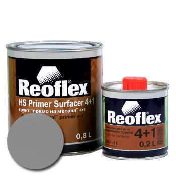 Изображение товара Reoflex Грунт HS Primer Filler 4:1 серый 0,8л, 0,2л