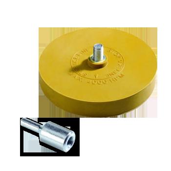 Изображение товара Диск резиновый (гладкий) TOR для снятия клейких лент D90мм*15мм.
