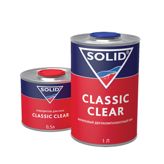Изображение товара Лак SOLID CLASSIC CLEAR 2K 1л и 0,5л отв.